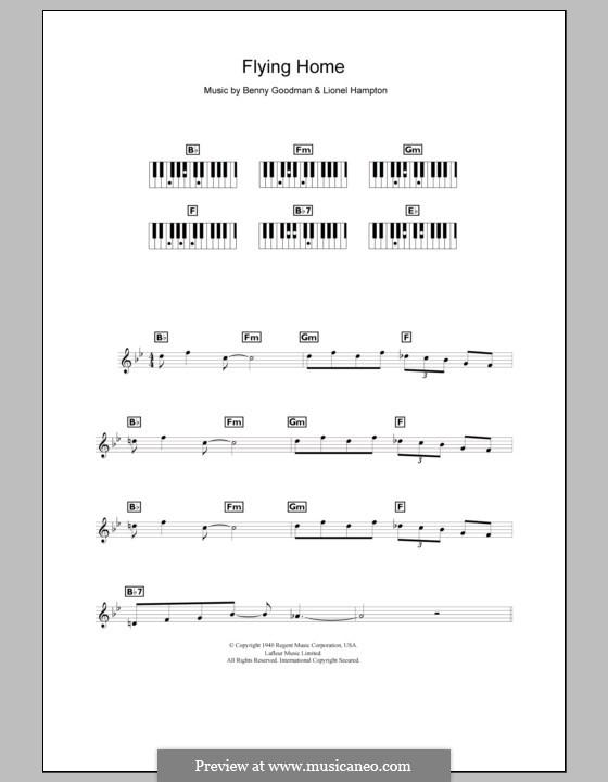 Flying Home: para teclado by Benny Goodman, Lionel Hampton