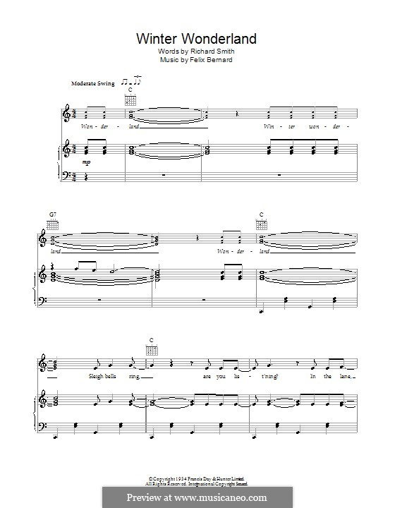 Winter Wonderland: For voice and piano or guitar (Bob Dylan) by Felix Bernard