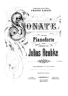 Sonata for Piano: sonata para piano by Julius Reubke