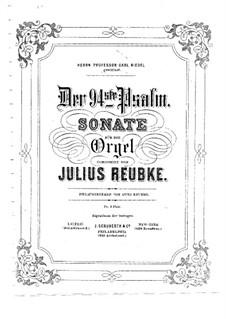 Psalm No.94. Sonata: para orgãos by Julius Reubke