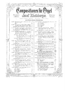 Sonata for Organ No.8, Op.132: Sonata for Organ No.8 by Josef Gabriel Rheinberger