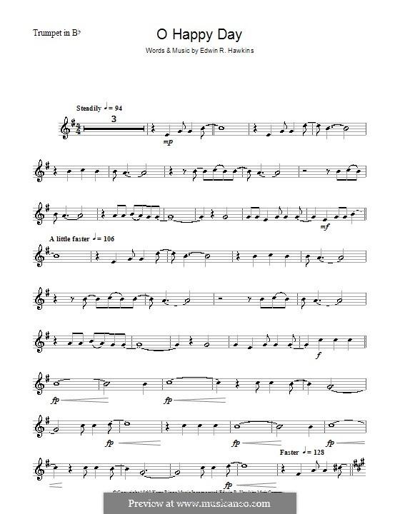 Oh Happy Day (The Edwin Hawkins Singers): para trompeta by Edwin R. Hawkins