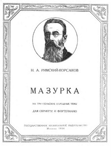 Mazurka on Three Polish Folk Themes: Mazurka on Three Polish Folk Themes by Nikolai Rimsky-Korsakov