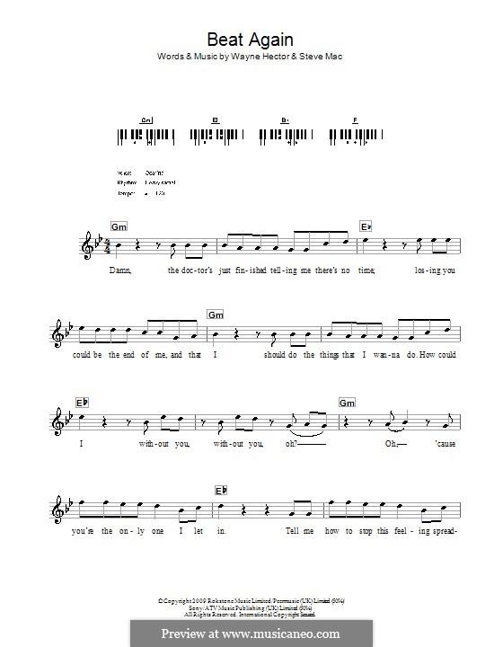 Beat Again (JLS): para teclado by Steve Mac, Wayne Anthony Hector