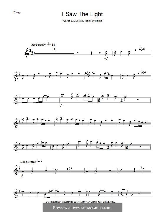I Saw the Light: para flauta by Hank Williams