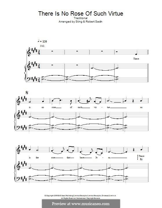 There Is No Rose of Such Virtue: Para vocais e piano (ou Guitarra) by folklore