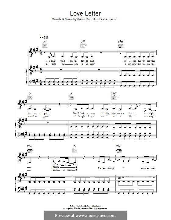 Love Letter (Leona Lewis): Para vocais e piano (ou Guitarra) by Kasher Jacob, Kevin Rudolf