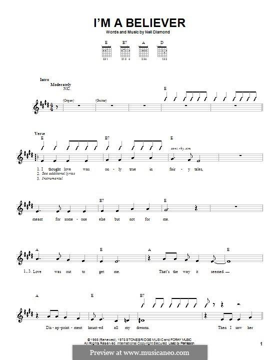 I'm a Believer: Para Guitarra by Neil Diamond