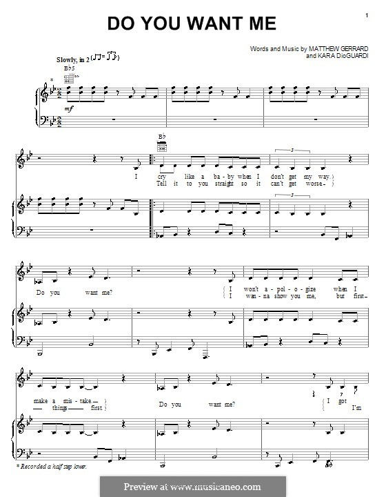 Do You Want Me? (Hilary Duff): Para vocais e piano (ou Guitarra) by Kara DioGuardi, Matthew Gerrard