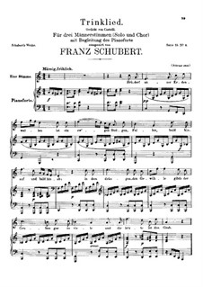 Trinklied (Drinking Song), D.148 Op.131 No.2: C maior by Franz Schubert