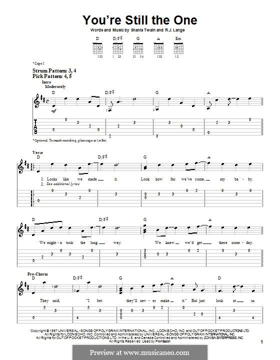 You're Still the One: Para guitarra (versão facil) by Robert John Lange, Shania Twain
