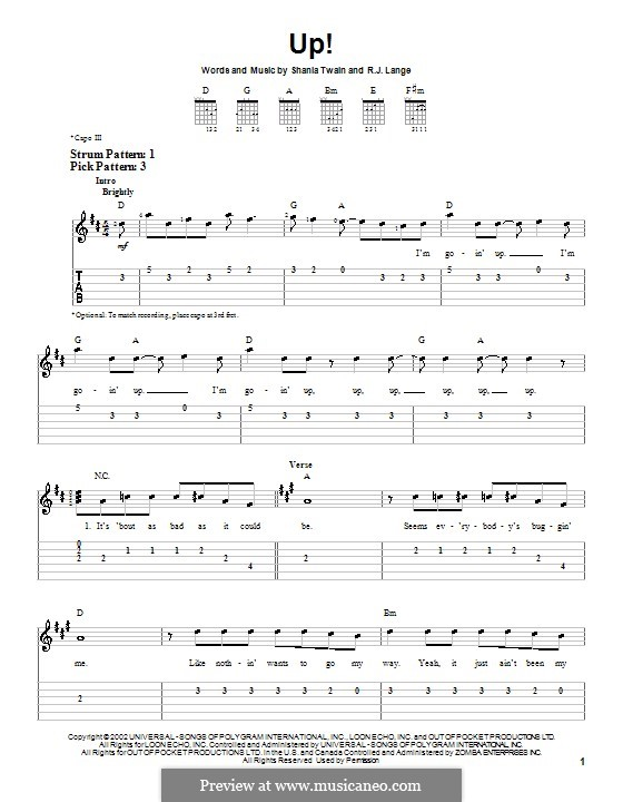 Up!: Para guitarra (versão facil) by Robert John Lange, Shania Twain