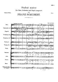 Stabat Mater in G Minor, D.175: Stabat Mater in G Minor by Franz Schubert