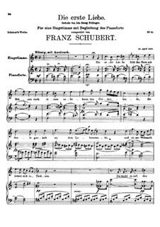 Die Erste Liebe (First Love), D.182: C maior by Franz Schubert