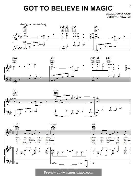 Got To Believe in Magic: Para vocais e piano (ou Guitarra) by Stephen Geyer