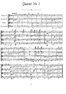 String Quartet No.1 in B Flat Major, D.18: String Quartet No.1 in B Flat Major by Franz Schubert