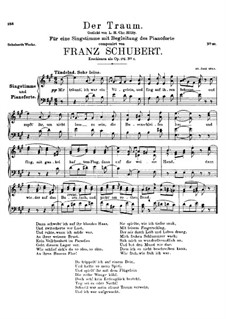 Der Traum (The Dream), D.213 Op.172 No.1: A maior by Franz Schubert