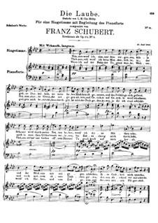 Die Laube (The Arbour), D.214 Op.172 No.2: A flat Major by Franz Schubert
