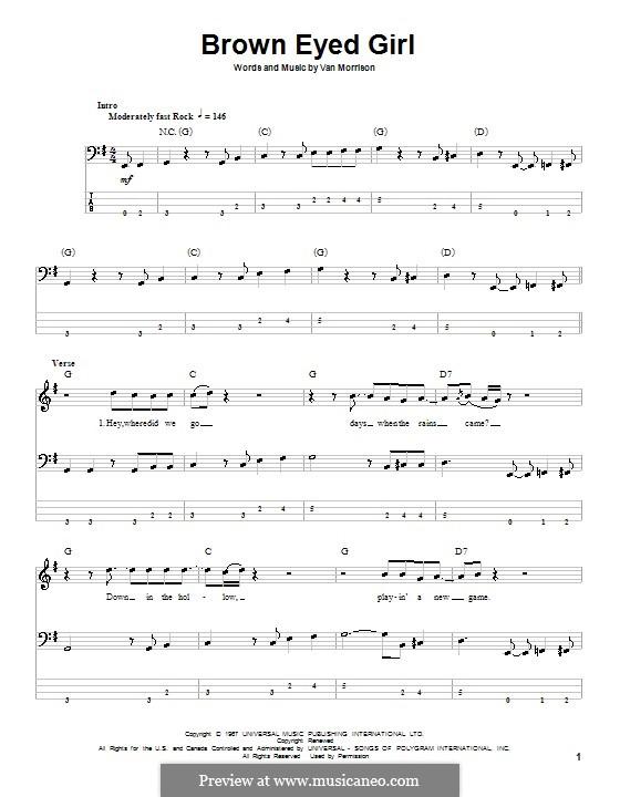 Brown Eyed Girl: para baixo com guia by Van Morrison