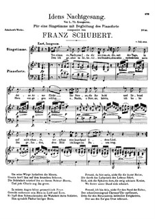 Idens Nachtgesang (Ida's Song to the Night), D.227: B flat Maior by Franz Schubert