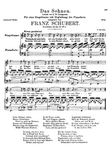 Das Sehnen (Longing), D.231 Op.172 No.4: A minor by Franz Schubert