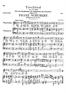 Tischlied (Drinking Song), D.234 Op.118 No.3: C maior by Franz Schubert