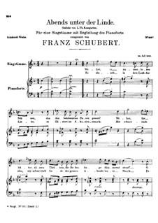 Abends unter der Linde (Evening Beneath the Linden Tree), D.235: F Maior by Franz Schubert