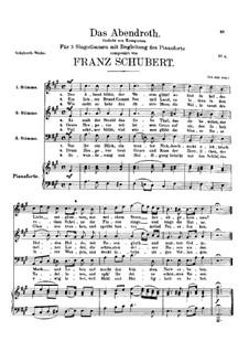 Das Abendrot (Sunset), D.236: Das Abendrot (Sunset) by Franz Schubert