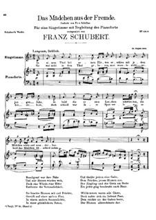 Das Mädchen aus der Fremde (The Maiden from a Strange Land), D.252: F Maior by Franz Schubert