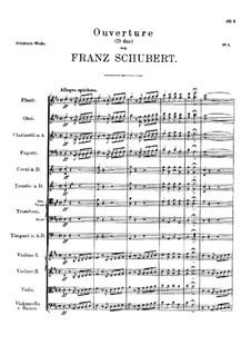 Overture for Orchestra in D Major, D.26: Overture for Orchestra in D Major by Franz Schubert