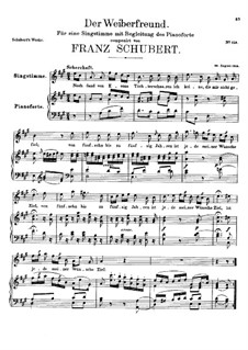 Der Weiberfreund (The Philanderer), D.271: A maior by Franz Schubert