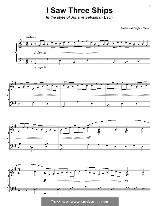 I Saw Three Ships: Para Piano by folklore