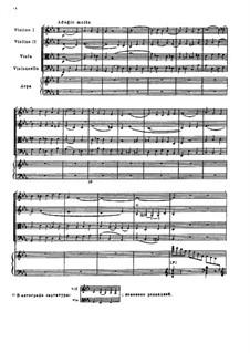 Adagio molto for String Quartet and Harp, TH 158: Adagio molto for String Quartet and Harp by Pyotr Tchaikovsky
