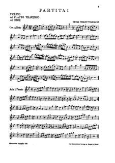 Die Kleine Kammermusik. Six Partitas for Violin (Flute or Oboe) and Basso Continuo: Die Kleine Kammermusik. Six Partitas for Violin (Flute or Oboe) and Basso Continuo by Georg Philipp Telemann