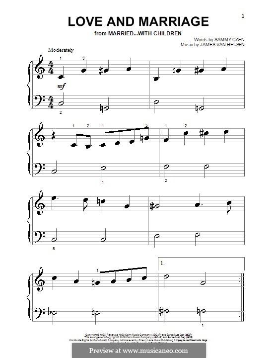 Love and Marriage (Frank Sinatra): Para Piano by Jimmy Van Heusen