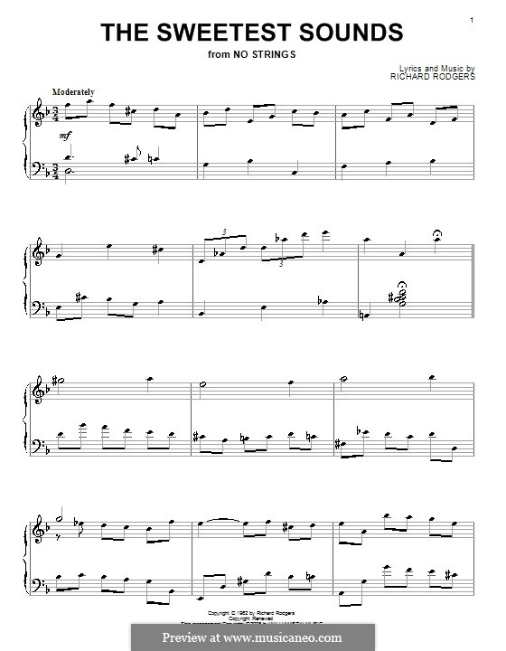 The Sweetest Sounds (from No Strings): Para Piano by Richard Rodgers