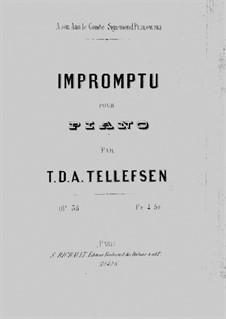 Impromptu for Piano, Op.38: Improviso para piano by Thomas Tellefsen