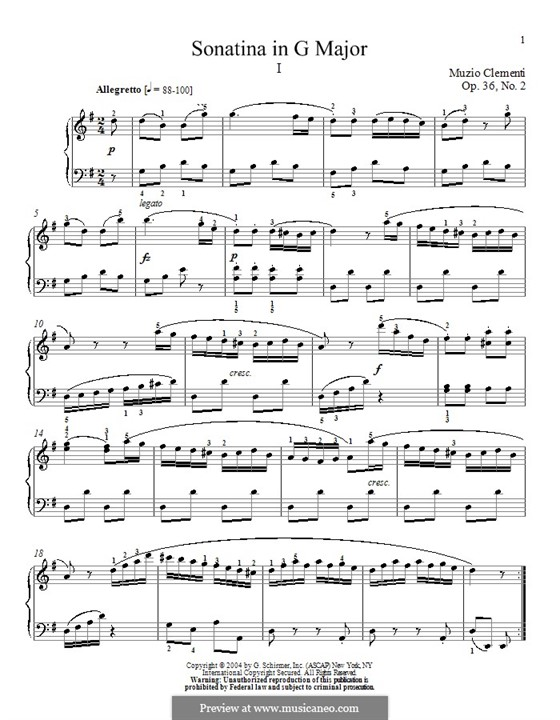 Sonatina No.2: Para Piano by Muzio Clementi