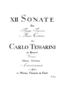 Sonatas for Flute and Basso Continuo, Op.2: Sonatas for Flute and Basso Continuo by Carlo Tessarini