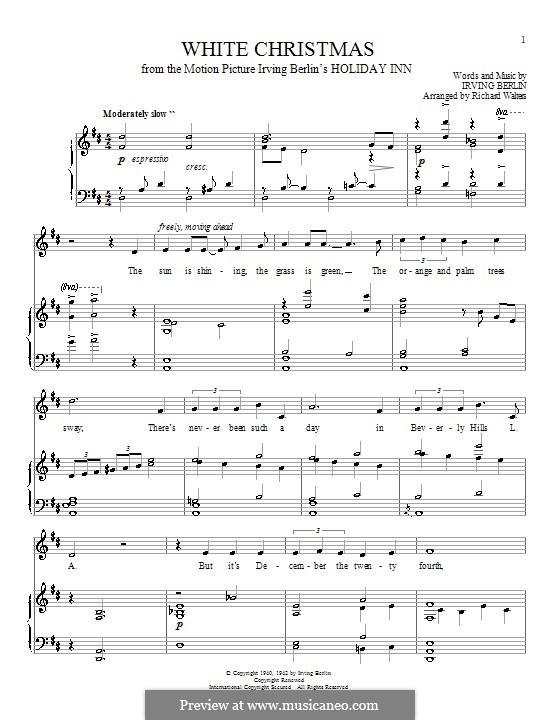 White Christmas: para voz e piano ou guitarra (D maior) by Irving Berlin