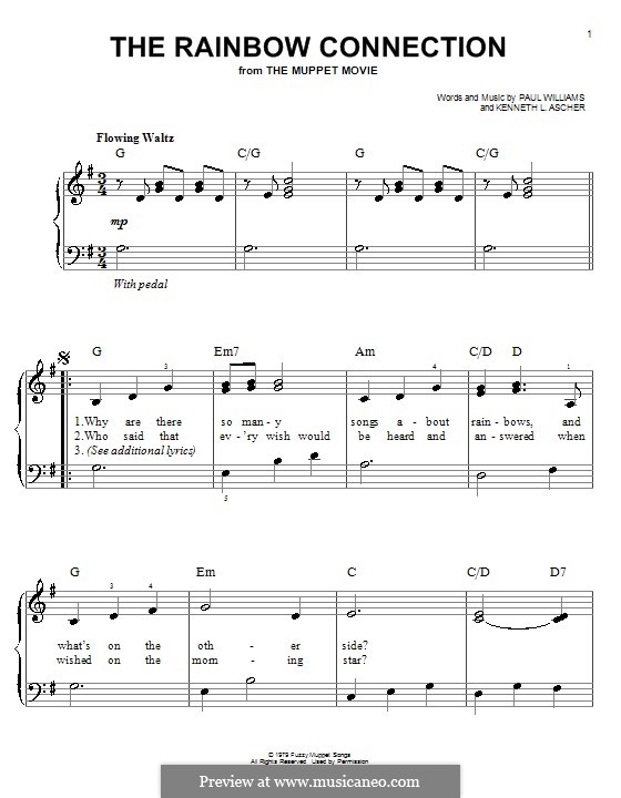 The Rainbow Connection (Kermit the Frog): Facil para o piano by Paul H. Williams, Kenneth L. Ascher