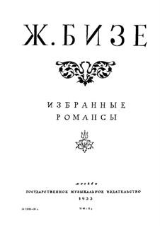 Selected Romances: Selected Romances by Georges Bizet