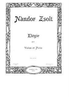 Elegy for Violin and Piano: Elegy for Violin and Piano by Nándor Zsolt