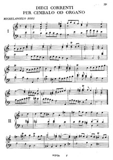 Dieci Correnti for Harpsichord (or Organ): Dieci Correnti for Harpsichord (or Organ) by Michelangelo Rossi