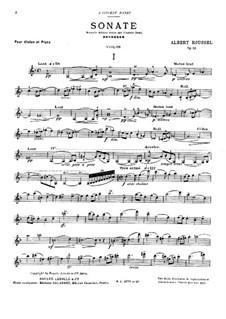 Sonata for Violin and Piano No.1, Op.11: Sonata for Violin and Piano No.1 by Albert Roussel