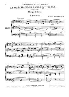 Le marchand de sable qui passe (The Sandman), Op.13: arranjo para piano by Albert Roussel
