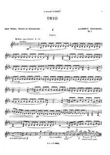 Piano Trio, Op.2: Trio de piano by Albert Roussel