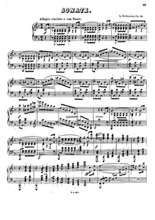 Sonata for Piano No.3 in F Major, Op.41: For a single performer by Anton Rubinstein