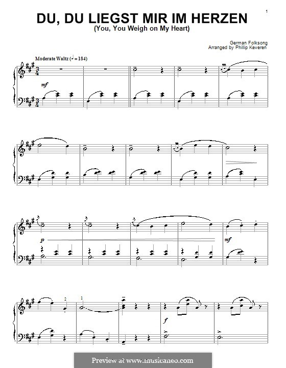 Am I Not Fondly Thine Own: Para Piano by folklore