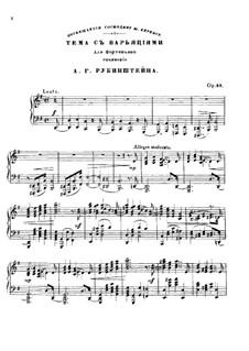 Theme and Variations, Op.88: tema e variações by Anton Rubinstein